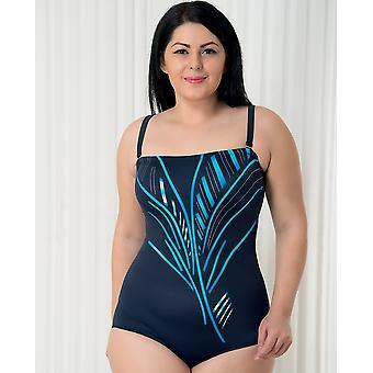 Aqua Perla - Womens  - Saint Tropez - Blue- One Piece Swimwear - Plus Size