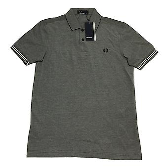 Fred Perry Men's Bomber Cuff Pique Short Sleeved Polo Shirt M8489-B26