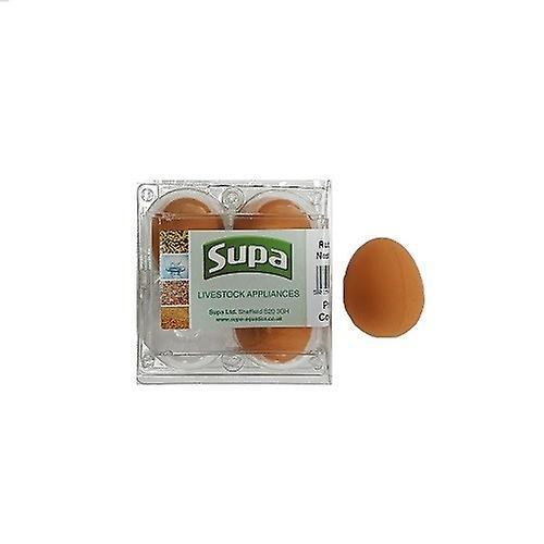 Supa Rubber Hen Nest Eggs (Pack Of 4)