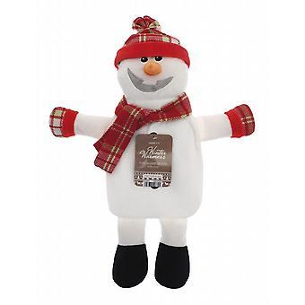 Kids Winter Warmer Plush 1L Hot Water Bottle: Snowman