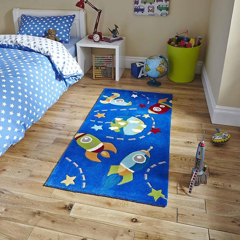 Rugs - Hong Kong - HK6149 Rocket Ship Blue