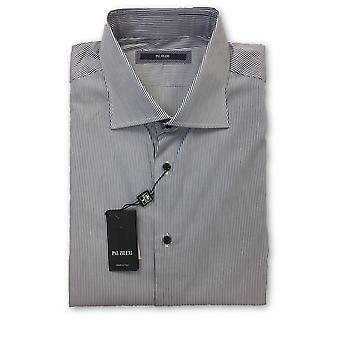 Pal Zileri shirt in white and navy stripe