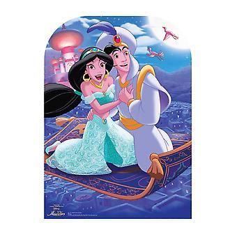 Aladdin and Jasmine from Disney's Aladdin Official Cardboard Cutout Scene