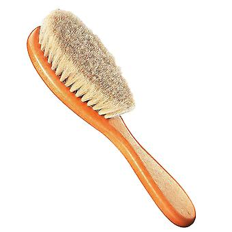 Natural Hairbrush for Babies - Goat Hair - Delicate Care for the Soft Hair of Babies Toddlers - Early Years Baby Care