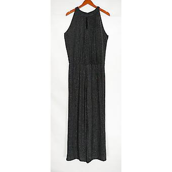 Mark Jumpsuits Sparkling Sleeveless Straight Leg Black