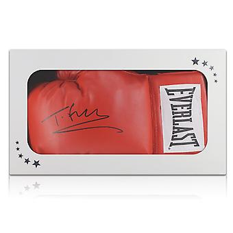 Tyson Fury Signed Red Boxing Glove In Gift Box