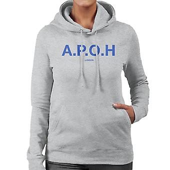 A.P.O.H Classic Cobalt Logo Women's Hooded Sweatshirt