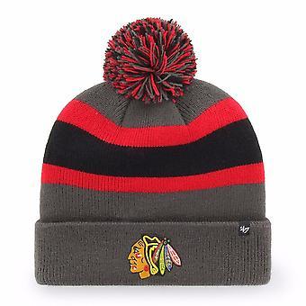'47 Nhl Chicago Blackhawks Charcoal Breakaway Cuff Knit