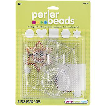 Perler Clear Pegboard Set 5 Pkg Small Large Basic Shapes 22750