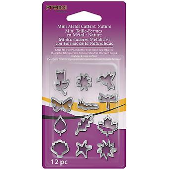 Premo Mini Metal Cutters 12 Pkg Nature Amm Cnt