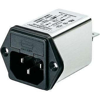 Mains filter + IEC socket, + fuse 250 Vac 4 A 1 mH