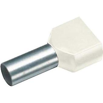 Twin ferrule 2 x 10 mm² x 14 mm Partially insulated Ivory Cimco 18 2452 100 pc(s)