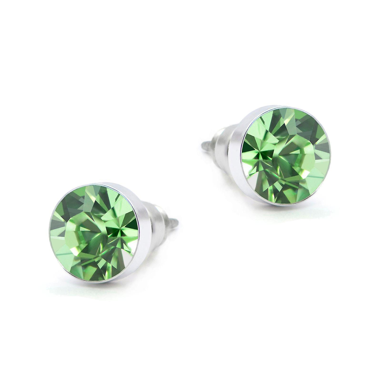 Green Swarovski earrings EMB8.6