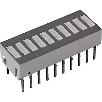 LED bargraph array Yellow (L x W x H) 25.4 x 10.16 x 9.14 mm Broadcom