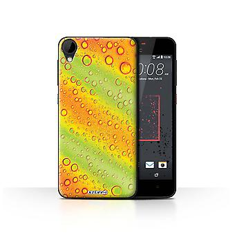 STUFF4 Case/Cover for HTC Desire 825/Green/Orange/Water Droplets
