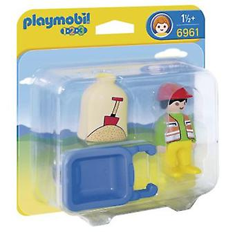 Playmobil 6961 1.2.3 Worker with forklift