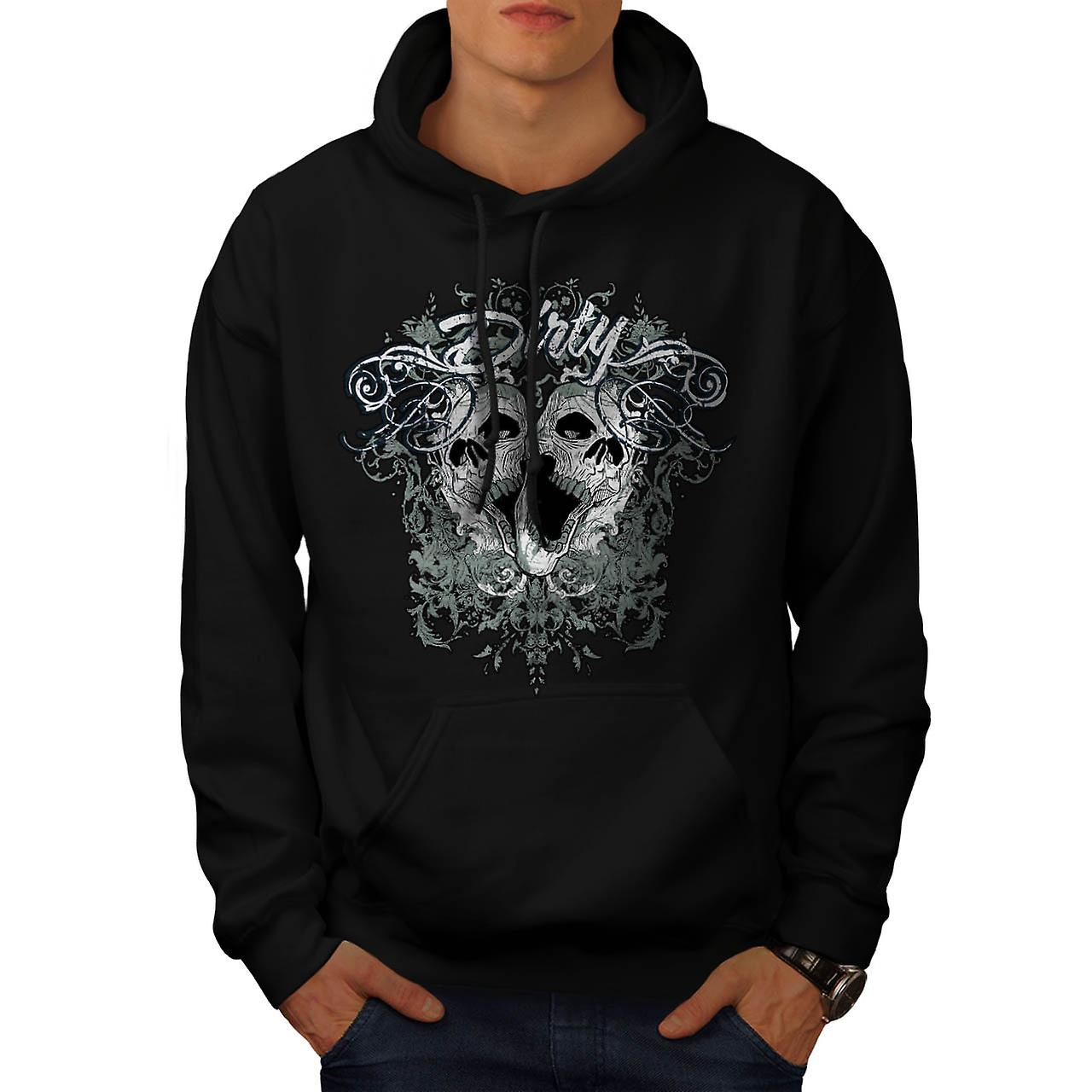 Dirty Evil Grave Yard Dead Skull Men Black Hoodie | Wellcoda