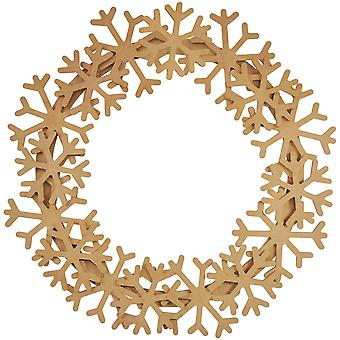 Beyond The Page MDF Snowflake Wreath-13