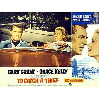 To Catch A Thief Poster Art Cary Grant Grace Kelly 1955 Movie Poster Masterprint