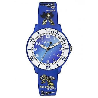 s.Oliver silicone band watch kids SO-3177-PQ