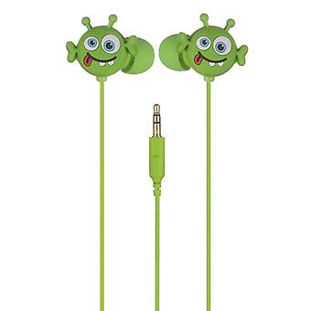 MY DOODLES Headphone Alien Green In-Ear