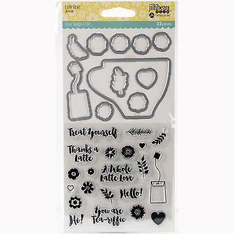 Jillibean Soup Shaker tampons transparents & Die Set-Latte amour JBSTAMP-1325