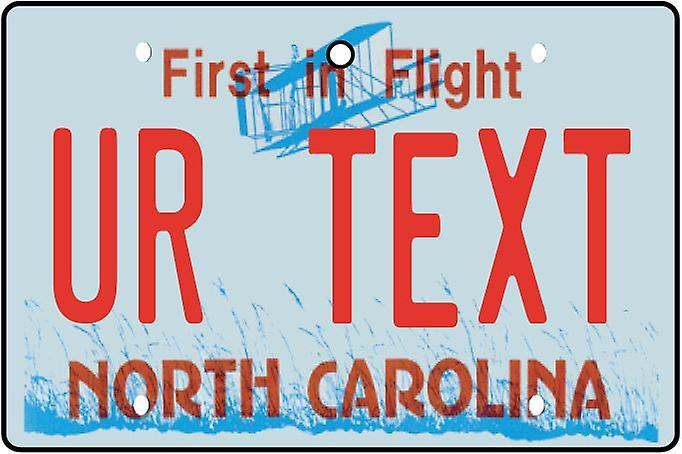 Personalised North Carolina Numberplate Car Air Freshener
