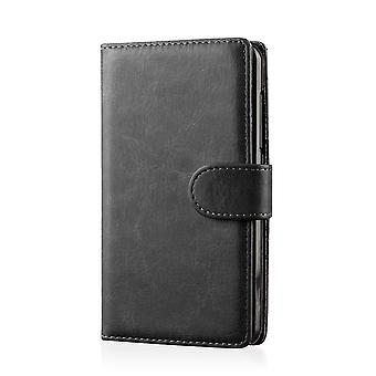 Book PU leather case cover for Samsung Galaxy Note 3 N9000 + stylus - Black