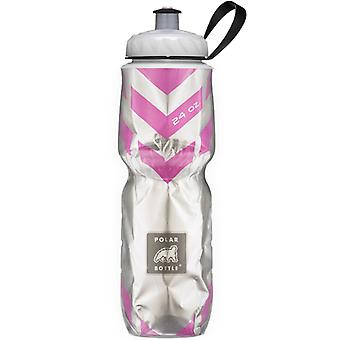 Polar Bottle Sport Insulated 24 oz Water Bottle - Chevron/Pink