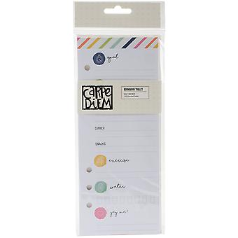 Carpe Diem Fitness Double-Sided Bookmark Tablet A5-Punched Daily Tracker W/24 Sheets CDF8904