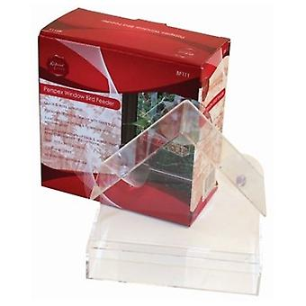 Window Bird Feeder Clear Perspex Suction Seed Hanging Bird Feeder