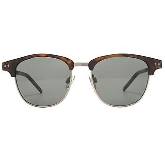 Polaroid Timeless Clubmaster Style Sunglasses In Matte Havana Polarised
