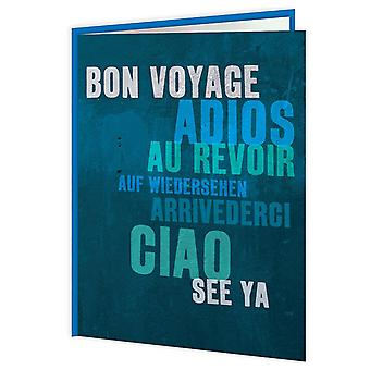 Brainbox Candy Blue Bon Voyage Card