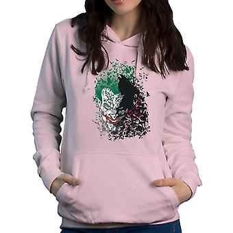 Dark Knight Batman Arkham Fledermäuse Joker Damen Sweatshirt mit Kapuze