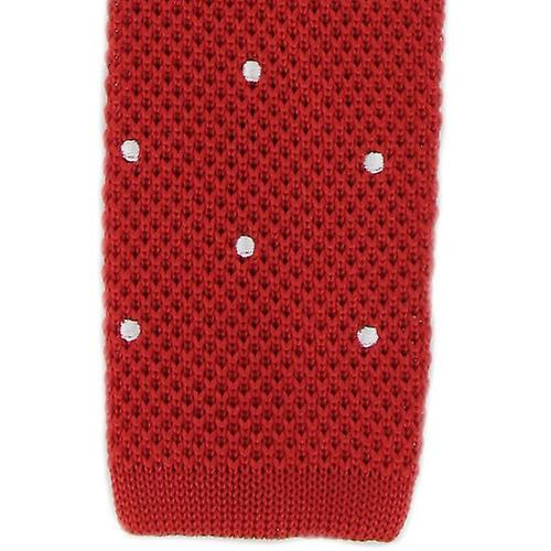Michelsons of London Spot Design Tie - Red/White