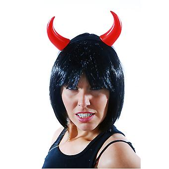 Hair accessories  Plastic Devil horns red headgear