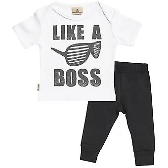 Spoilt Rotten Like A Boss Baby T-Shirt & Baby Jersey Trousers Outfit Set
