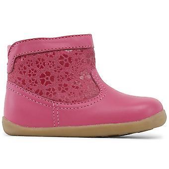 Bobux skridt op piger blik støvler Primrose Pink