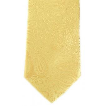 Michelsons of London Tonal Paisley Polyester Tie - Gold