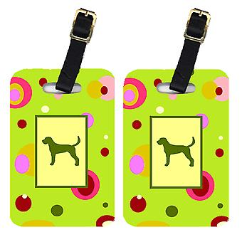 Carolines Treasures  CK1006BT Pair of 2 American Foxhound Luggage Tags