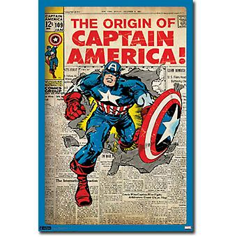 Captain America - The Origin Poster Poster Print