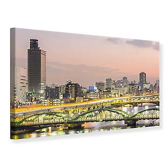 Canvas Print Skyline The Lights Of Tokyo
