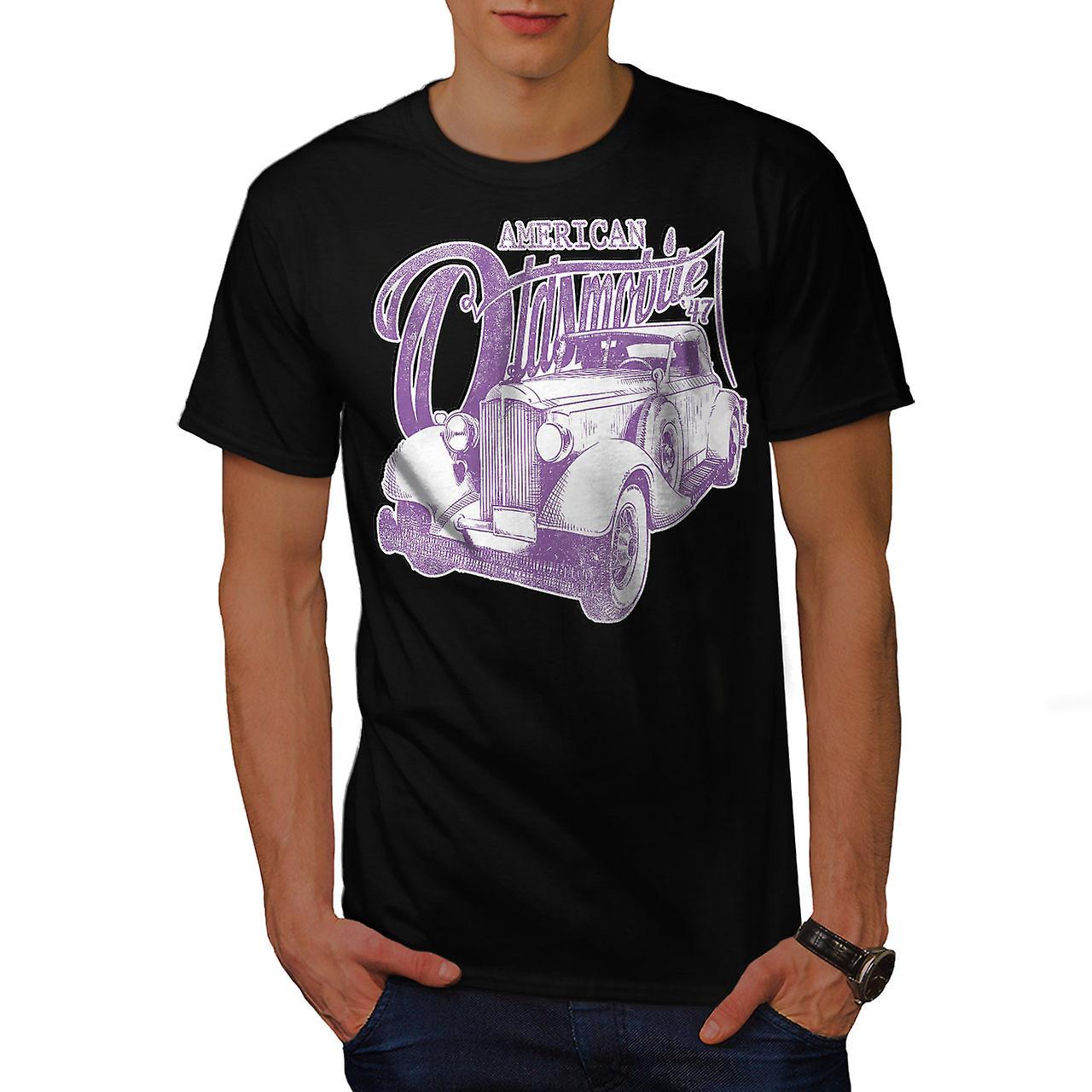 American Oldsmobile Car Men Black T-shirt | Wellcoda