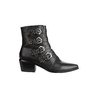 Hot Soles Studded Buckle Ankle Boot