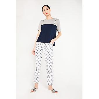 Ghospell Dot Printed Tailored Trouser