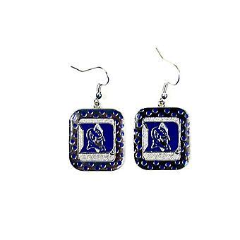 Duke Blue Devils NCAA Polka Dot Style Dangle Earrings