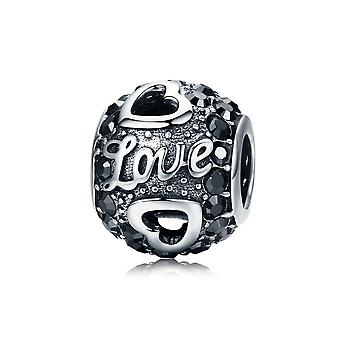Sterling silver charm Antique ball of love SCC532