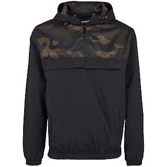 Urban classics - transition jacket windbreaker black / camo