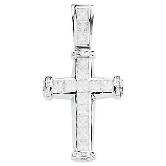 925 iced out sterling silver cross - INVISIBLE CUT