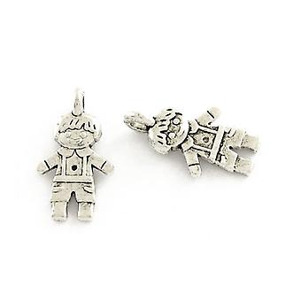 Packet 50+ Antique Silver Tibetan 16mm Boy Charm/Pendant ZX16015